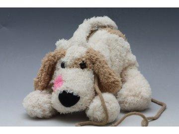plyšová taška pes hnědý