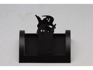 kovový svícen černý