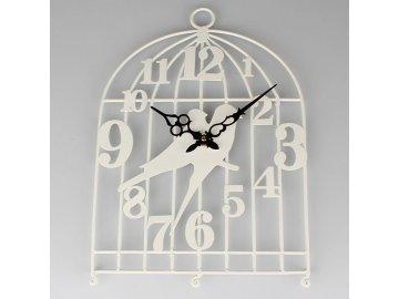 Kovové hodiny ptáčci