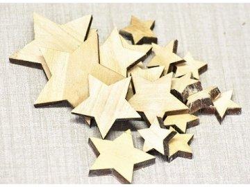 vanocni hvezda hneda sada 18 ks