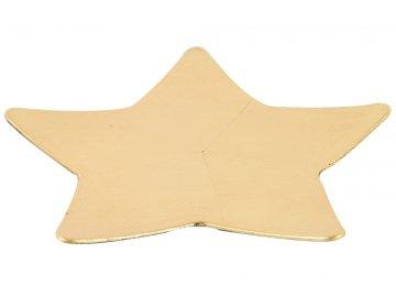 dekoracni tac hvezda l zlaty