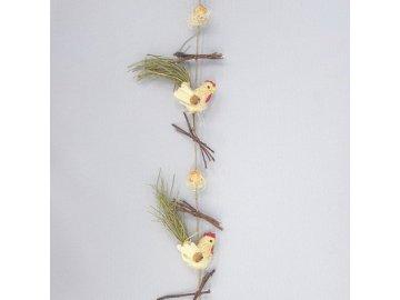 dekorace velikonoce kohout girlanda 110x