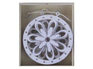 Ozdoba kovová květina 8CM