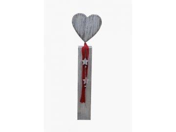 dekorace srdce s šálou