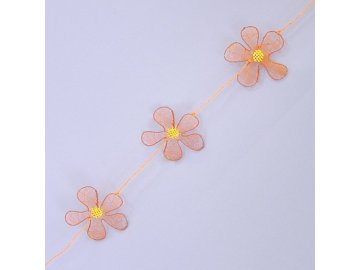 girlanda kvetinky kov textil 2cm oranz