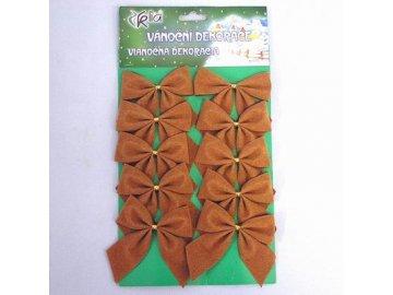 masle vanocni textil 10ks 6cm bronz