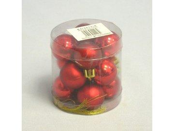 koule vanocni pvc 12ks 3cm cervena