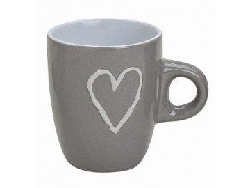 Hrnek espresso keramika 70ml (Barva šedá)