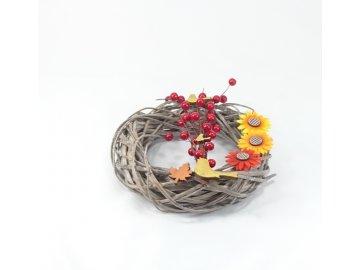 Podzimní věnec dekorační 25x8cm