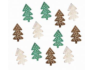 Dřevěné stromky hnědé 4cm 12ks