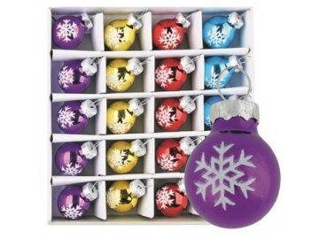 Vánoční ozdoby skleněné 20ks 2cm