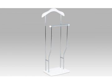 Němý sluha chrom bílá 45x30x108cm