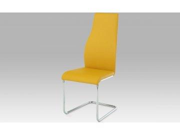 Jídelní židle | koženka | chrom | pohupová podnož