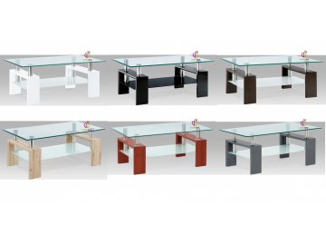 Konferenční stolek skleněný | 110x60x45cm