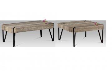 Konferenční stolek | dub Canyon grey | kovová konstrukce