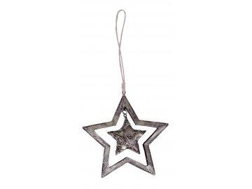 Hvězda ozdoba 12x14x1 cm
