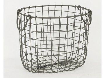 Košík kovový šedý