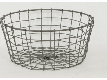 Košík drátěný šedý
