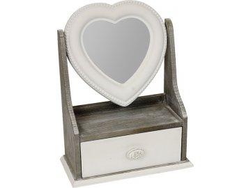 Šperkovnice  se zrcadlem | dřevěná