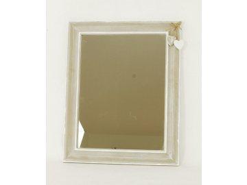 Zrcadlo v dřevěném rámu