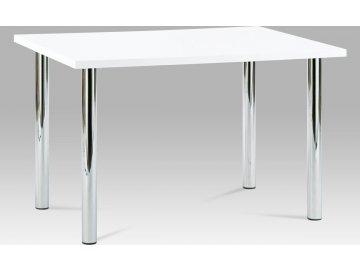 Jídelní stůl bílý lesklý 120x75cm