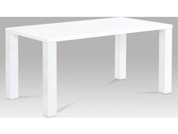 Jídelní stůl bílý lesklý 160x90x76cm