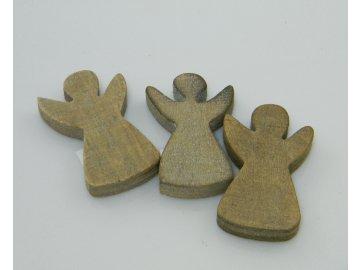 Dřevěný andělíček ozdoba 6x4x1 cm