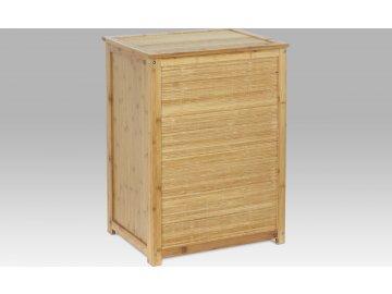 Koš na prádlo bambusový s látkovou vložkou