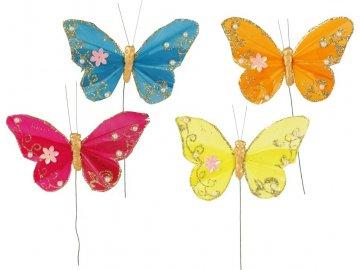Dekorační motýl - zápich