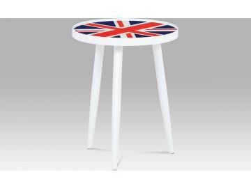 Odkládací stolek bílý | designový potisk | 40x50cm