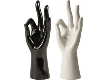Ruka na prstýnky | porcelánová