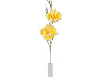 Umělá květina magnolie žlutá
