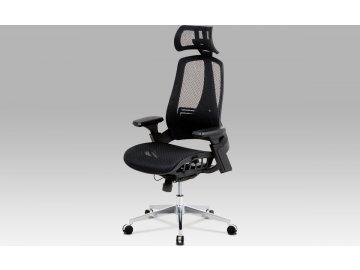 Kancelářská židle | lankový mech. |černá MESH | kovový kříž