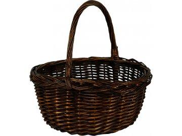 Proutěný košík | tmavě hnědý