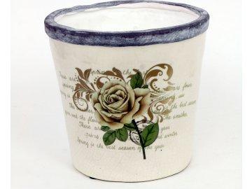Květináč keramický růže