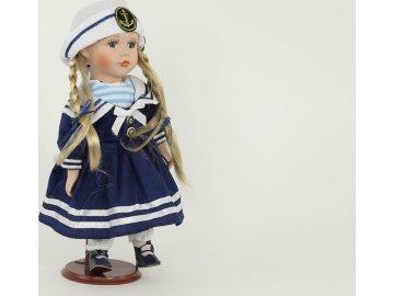 Dekorační panenka s porcelánovou hlavičkou