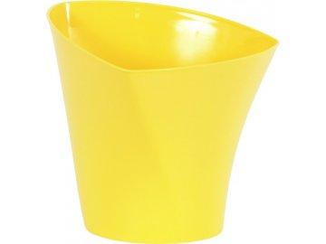 Žlutý plastový obal na květiny 17x15,6cm