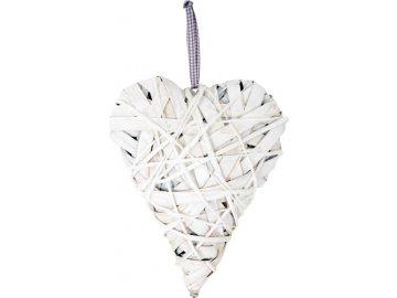 Srdce | proutěné | bílé