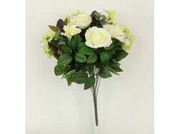 Puget umělých květin krémový