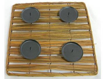 Ratanový svícen čtverec 30x30x5cm