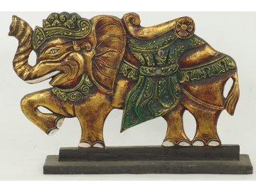 Panel slon | dřevořezba