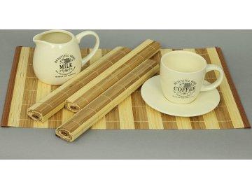Prostírání bambusové - pruhované - sada 4ks