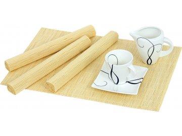 Prostírání bambusové - přírodní - sada 4ks