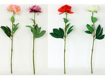 Pivoňka | umělá květina | 4  barvy (Provedení D)