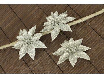 Květina stříbrná  dekorační
