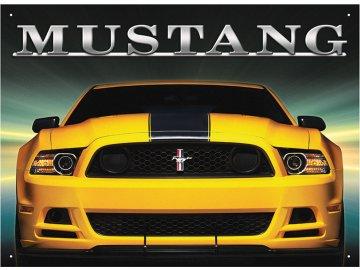 Plechová cedule Mustang 30x40cm
