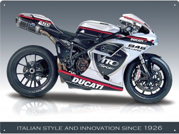 Plechová cedule Motorka Ducati 30x40cm