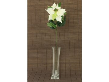 Vánoční růže | poinsécie | umělá květina | krémová | 72cm