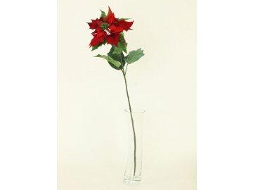 Vánoční růže poinsécie umělá květina červená