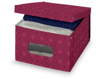 Úložný box s oknem růžový